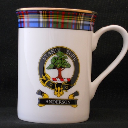 Anderson Scottish Clan Fine Bone China Mug