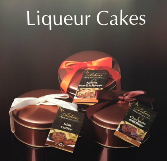 Ashers Liqueur Cakes - Pack of 3