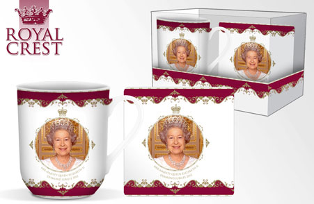 Queen's Diamond Jubilee Bone China Mug