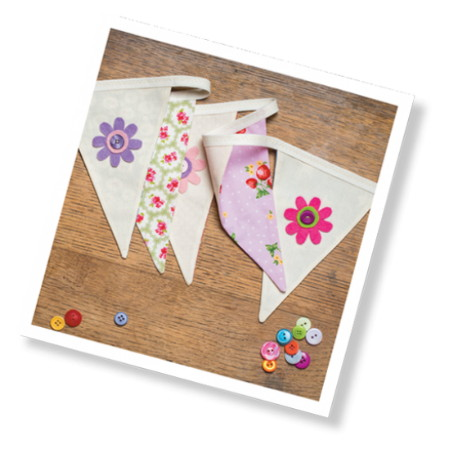 Floral Bunting Sewing Kit