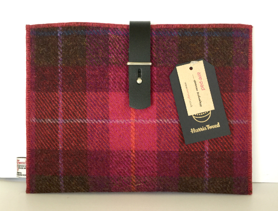 Fuchsia Check iPad Sleeve