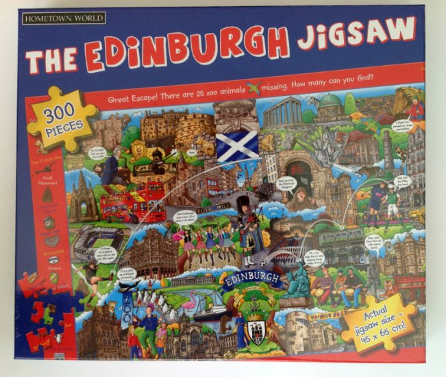 Hometown World Edinburgh 300 piece Jigsaw Puzzle