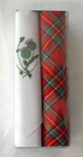 Box of 2 Ladies Scottish Hankies