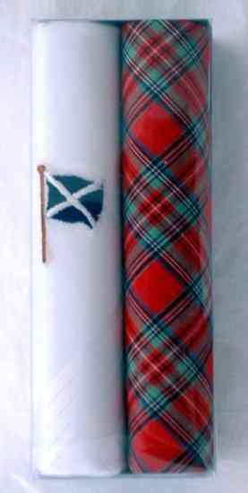 Box of 2 Men's Scottish Handkerchiefs