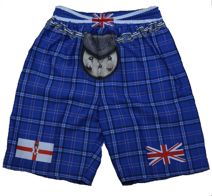 Northern Ireland Tartan Kilt Shorts - Xtra Large