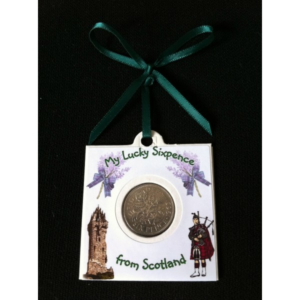 Piper & Wallace Monument Lucky Sixpence Card