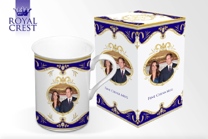 Royal Wedding Fine Bone China Can Shaped Mug