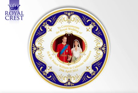 Royal Wedding Day 8 inch Plate