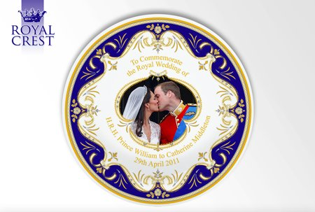 "Royal Wedding ""The Kiss"" 8 inch Plate"