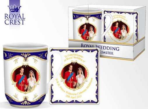 Royal Wedding Day Fine Bone China York Mug & Coaster