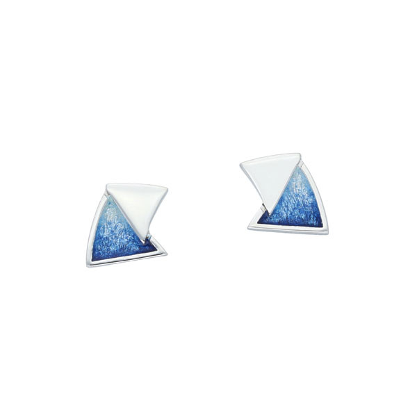 Sail Away Sterling Silver Stud Earrings - Waterfall