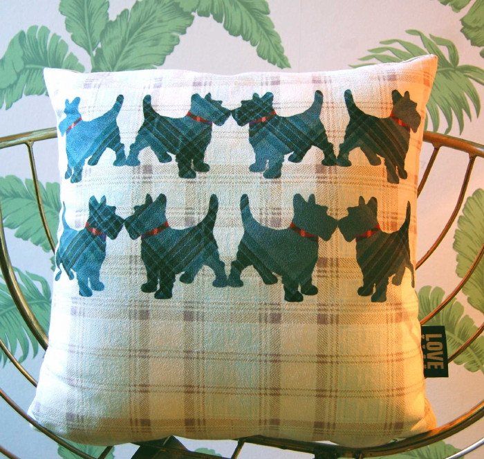Scottie Dogs Cushion