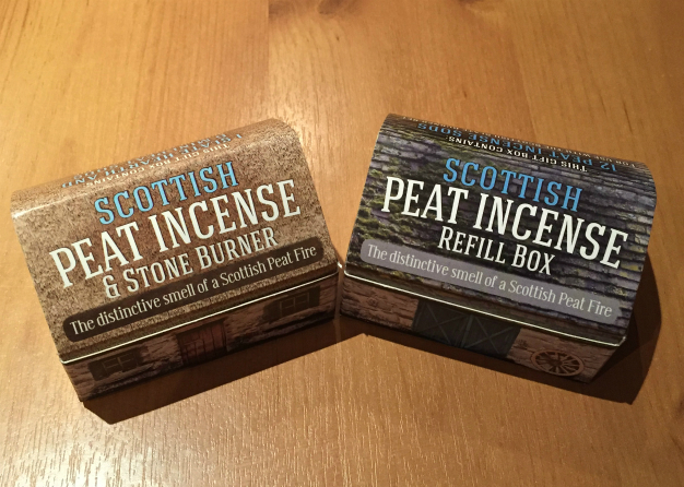 Scottish Peat Incense Croft Box and Sods Refill Box