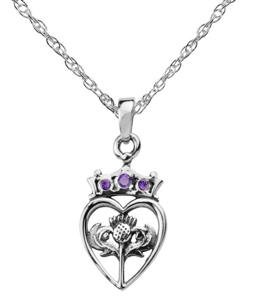 Scottish Thistle Pendant Heart