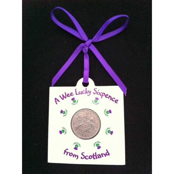 Thistles Lucky Sixpence Card
