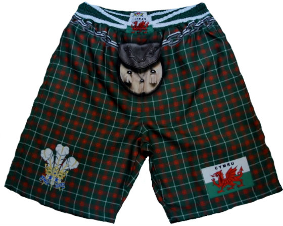Wales Tartan Kilt Shorts - Medium
