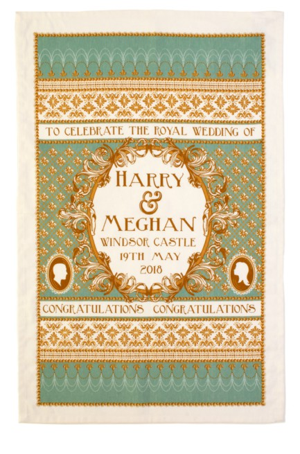 Congratulations Harry and Meghan Cotton Tea Towel