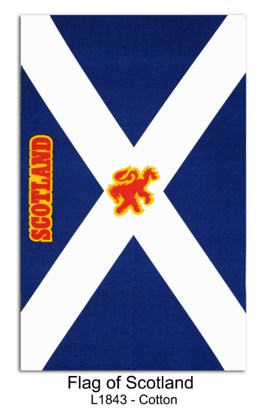 Flag of Scotland Cotton Tea Towel