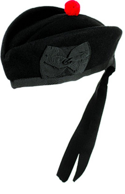 Glengarry Cap - Plain Black
