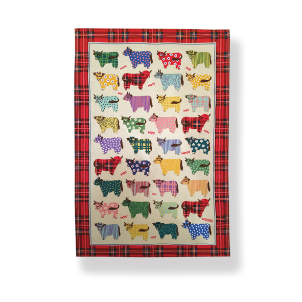 Highland Cows Cotton Tea Towel