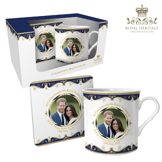 Royal Wedding Prince Harry and Meghan Markle Mug and Coaster