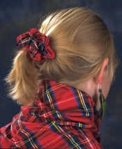 Ladies Silk Tartan Scrunchie